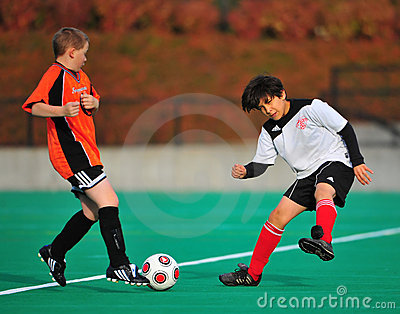 Youth soccer ball handling Editorial Photo