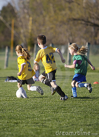 Free Youth Soccer Game Stock Images - 697514