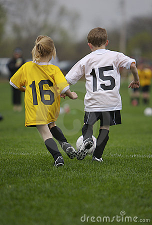 Free Youth Soccer Game Stock Images - 702094