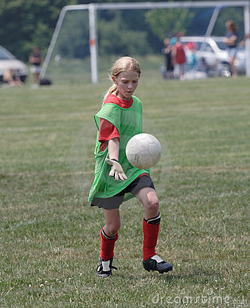 Youth Soccer Player in Action