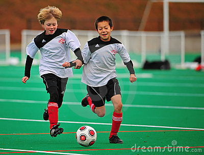 Youth soccer team mates Editorial Image