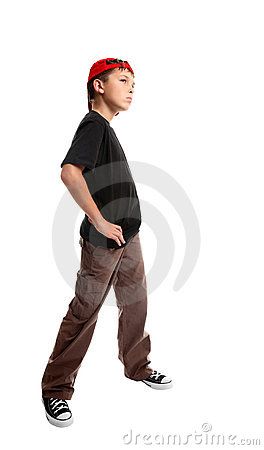 Youth standing pose
