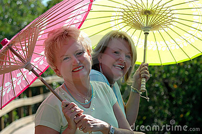 Youthful senior women