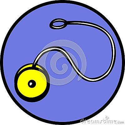 Yoyo spinning toy vector illustration