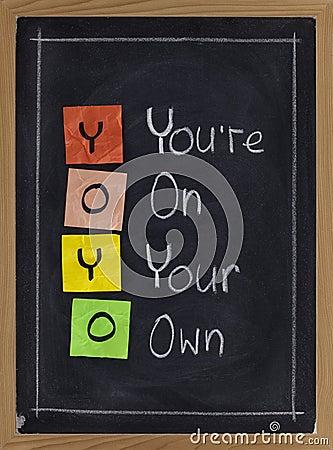 Yoyo - usted está en sus el propio
