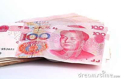 Yuan notes. China Currency