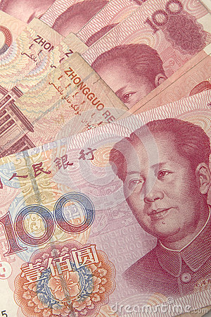 Yuan notes closeup