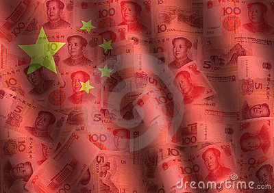 Yuan ondulado e indicador chino