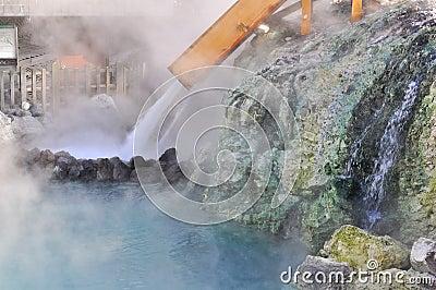 Yubatake hot field water at Kusatsu