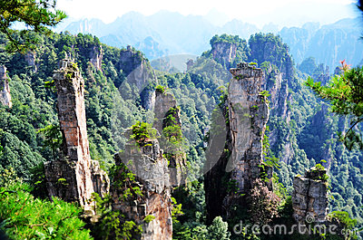 Yubi peak in Tianzi Mountain