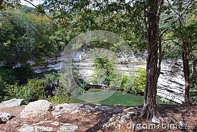 Yucatan, Mexico. Sacred cenote at Chichen Itza