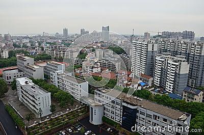 YueYang city, China Editorial Stock Photo