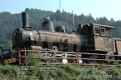 Yugoslavian 2nd world war steam train