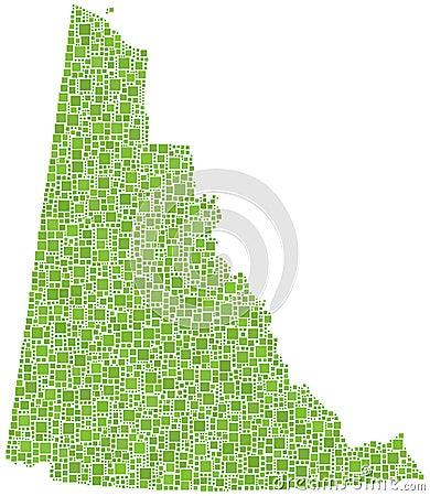 Yukon (Canada) province map