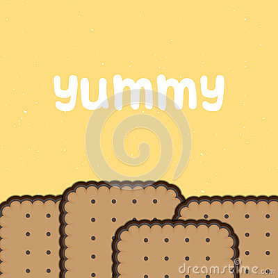 Yummy biscuit background