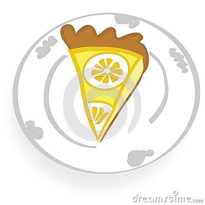 Yummy lemon cheese cake