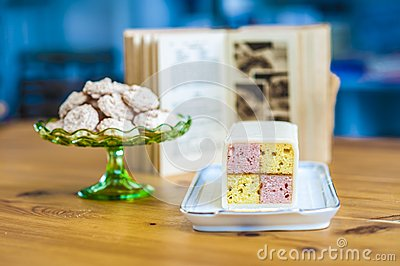 Yummy sponge cake and cookies for you