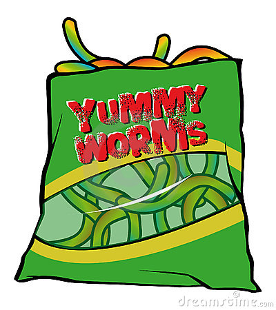 Yummy worms candy
