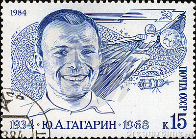 Yuri Gagarin the first man-astronaut Editorial Stock Image