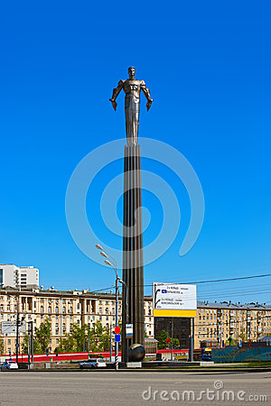 Free Yuri Gagarin Monument - Moscow Russia Royalty Free Stock Images - 49711429