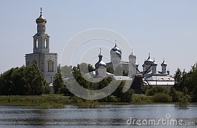 Yuriev Monastery in Novgorod the Great, Russia