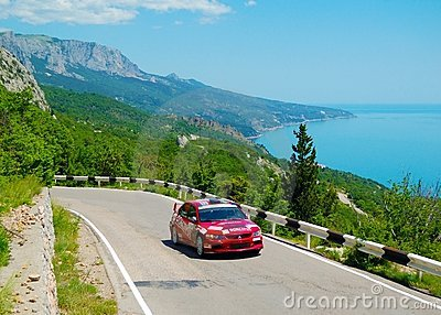 Yuriy Shapovalov on the IRC Prime Yalta Rally 2011 Editorial Stock Photo