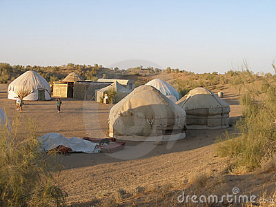 Yurt camp in Uzbekistan