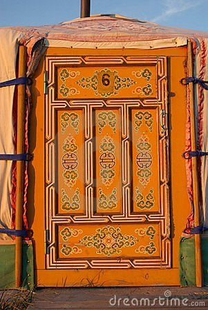 Yurt door in Mongolia