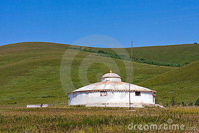 Yurt in the grassland