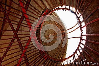 Yurt roof interior