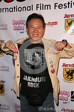 Yutaka Ikejima at the Boobs and Blood International Film Festival Opening Night, New Beverly Cinema, Los Angeles, CA. 09-24-10 Editorial Photography