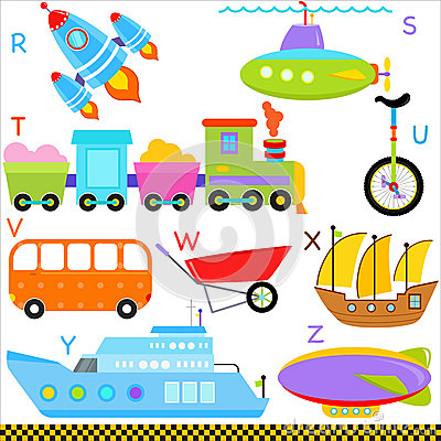 A-Z alphabets : Car / Vehicles / Transportation