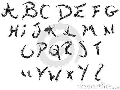 A z di alfabeto della scrittura a mano immagini stock - Modello di scrittura vichingo ...