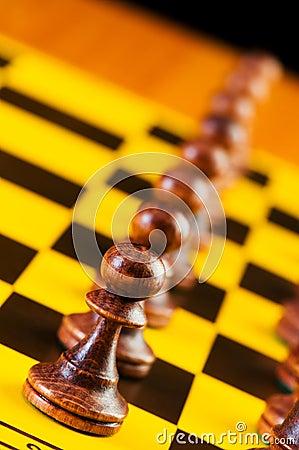 Z kawałkami szachowy pojęcie