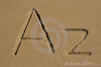 A, Z letters