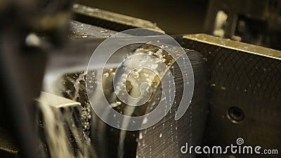 Zaag scherp metaal stock video