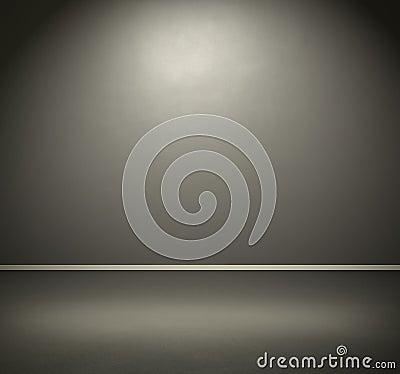 Zaal met donkere grijze muur en vloer royalty vrije stock afbeelding afbeelding 33471176 - Grijze ruimte en taupe ...