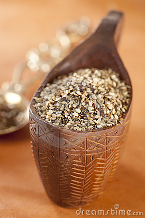 Zaatar-  a blend of herbs, sesame seeds and salt