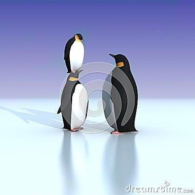 Zabawa pingwiny