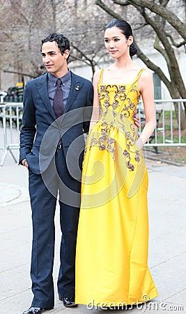 Zac Posen and Tao Okamoto Editorial Stock Photo