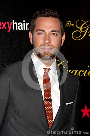 Zachary Levi arrives at the 37th Annual Gracie Awards Gala Editorial Photo