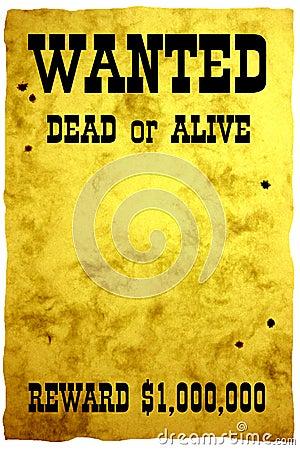 Zachód plakatu dziki