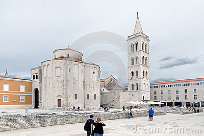 Zadar. Church of St Donat Editorial Stock Photo