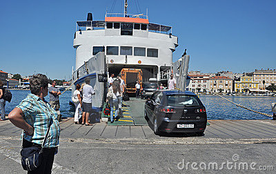 Zadar ferry Editorial Photography