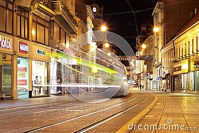 Zagreb at night Editorial Photo