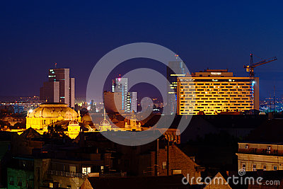 Zagreb by Night Editorial Stock Image