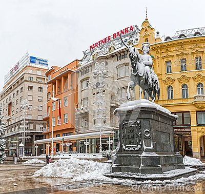 Free Zagreb Snowy Winter Stock Photography - 49734342
