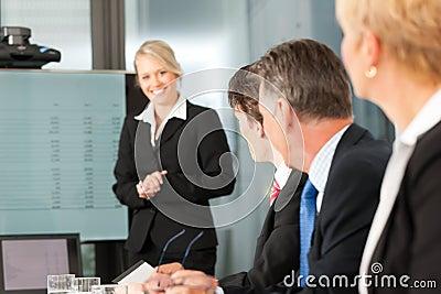 Zaken - team in bureau