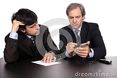 Zakenlieden op een vergadering
