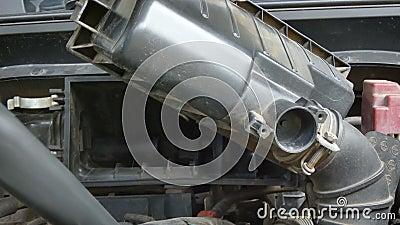 Zakończenie up strzelał machinalną używa elektryczną dmuchawy siły powietrzne dmucha samochodowego silnika filtr dla czyścić pył  zbiory